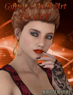 Gypsy's Nail Art for Genesis 2 Female(s) Merchant Resource