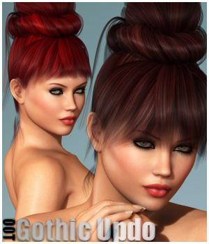 Gothic Updo Hair + OOT Hairblending