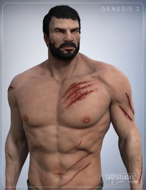 Daz3d - Body And Face Scars Decals - brandseven