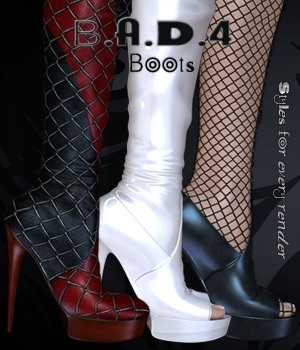 B.A.D.4 Boots -  In Long Boots