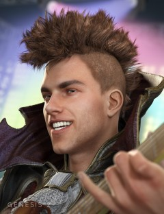Gothic MoHawk Hair for Genesis 1 & 2 Male(s)