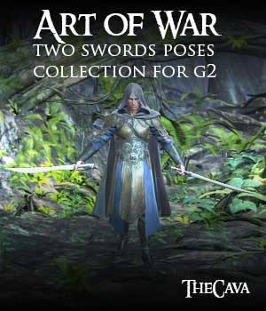 Art of War - The Ultimate 2Swords Poses for Genesis2