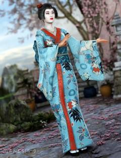 Peony Kimono for Genesis 2 Female(s)