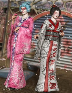Peony Kimono Textures