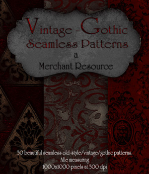 Merchant Resource- Vintage-Gothic Patterns