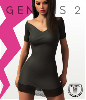 Fashion Blizz- Little Black Dress for Genesis 2 Female(s)