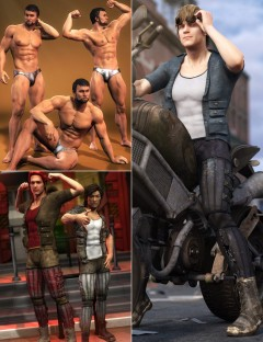 Buff Bundle for Genesis 2 Male(s) and Gianni 6
