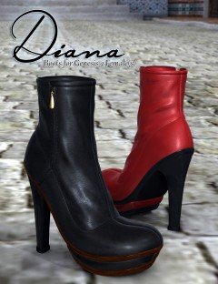 Diana Boots for Genesis 2 Female(s)