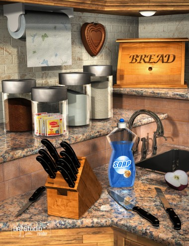 Collective3d Kitchen Counter Stuff