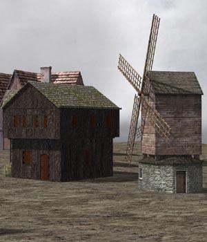 Medieval Village (for Poser)