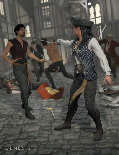 Swashbuckling Poses  for Genesis and Genesis 2 Male(s)