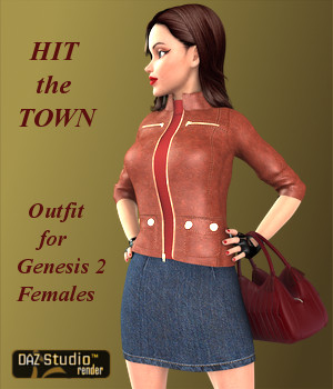 Hit the Town Outfit for Genesis 2 Female(s)