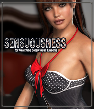 SENSUOUSNESS for Valentine Sleep Wear Lingerie
