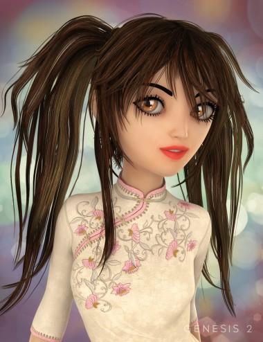 Jazmin Hair for Genesis 2 Female(s)