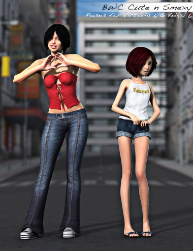 BWC Cute n Smexy - Poses for Victoria 6 and Keiko 6