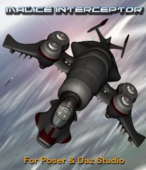 Scifi Fighter Craft Malice Interceptor