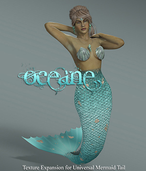 Oceane, Texture Expansion for Universal Mermaid Tail