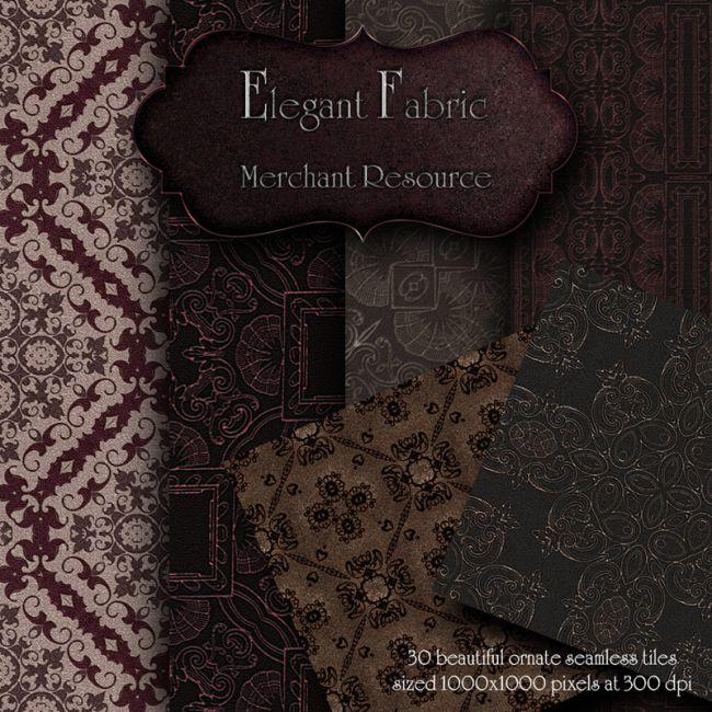 Merchant Resource Elegant Fabric Textures For Poser And Daz Studio