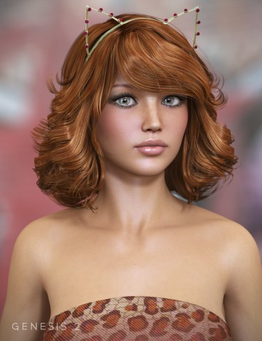 Cats Meow Hair for Genesis 2 Female(s)