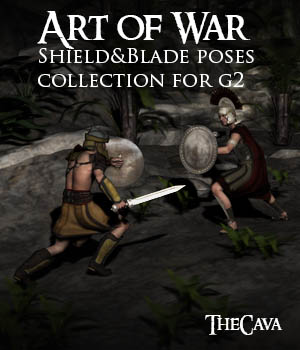 Art of War- The Ultimate Shield&Blade Poses for Genesis2