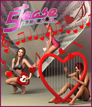 5TEASE PinUp Vol 6: Love Song- Poses and Props for V4, V6 & G2F