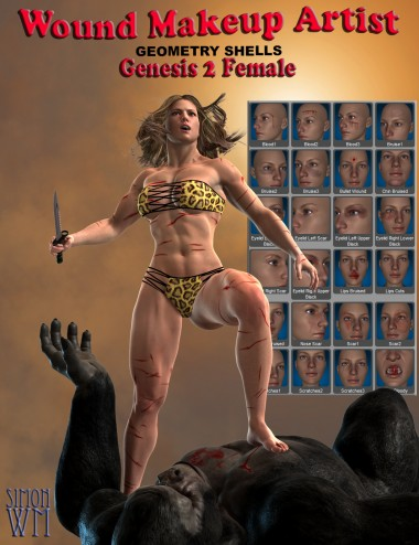 Wound Makeup Artist Geometry Shells- Genesis 2 Female(s)