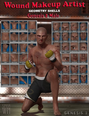 Wound Makeup Artist Geometry Shells- Genesis 2 Male(s)