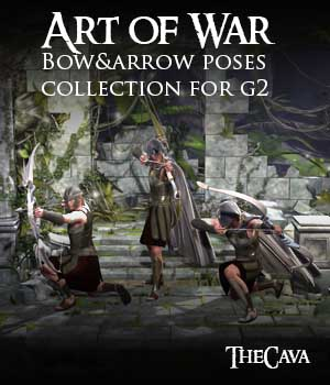 Art of War- The Ultimate Bow&Arrow Poses for Genesis2
