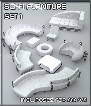 SciFi Furniture Set 01