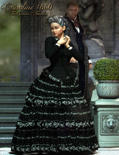 1860 Crinoline Dress for Genesis 2 Female(s)
