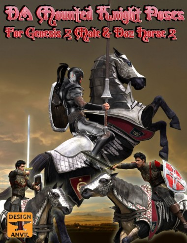 DA Mounted Knight Pose Set
