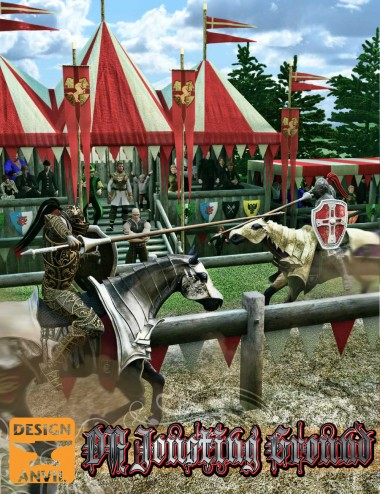 DA Jousting Ground & Camelot tents | Environments and Props for Daz Studio and Poser
