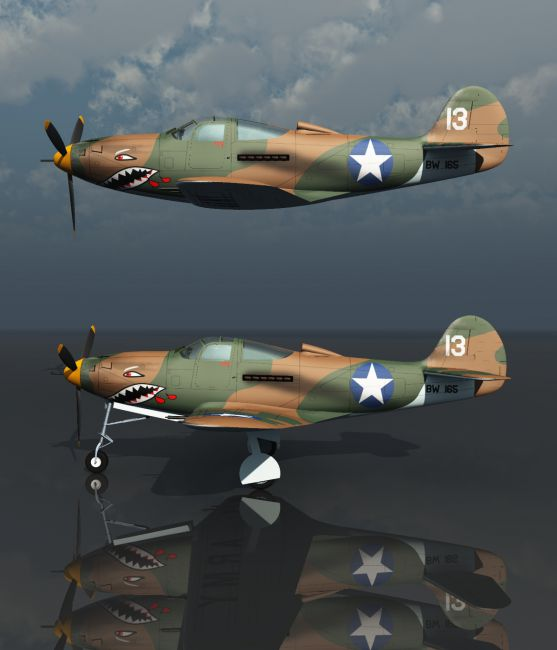 BELL P39 AIRACOBRA USAF (for VUE)