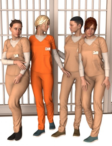Prison Clothes and Scrubs for Genesis 2 Female(s)