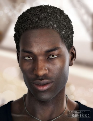 Omri Hair for Genesis 2 Male(s)