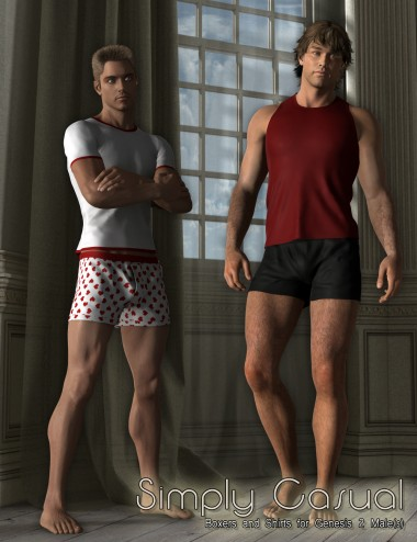 Simply Casual Boxers and Shirts for Genesis 2 Male(s)