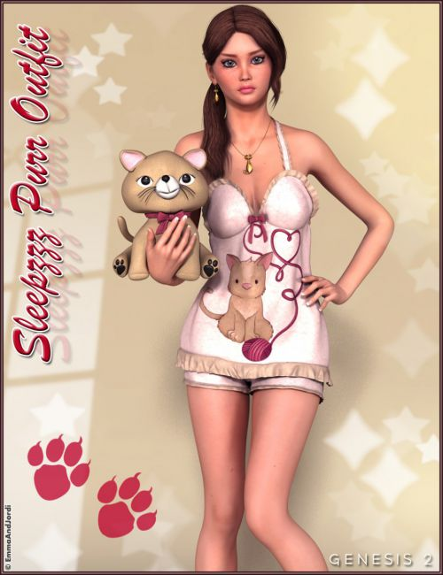 Sleepzzz Purr Outfit and Accessories