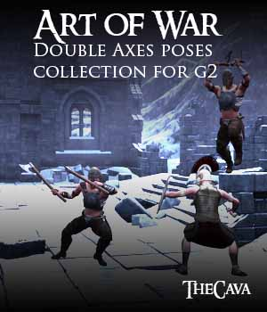 Art of War- The Ultimate Double Axes Poses for Genesis2