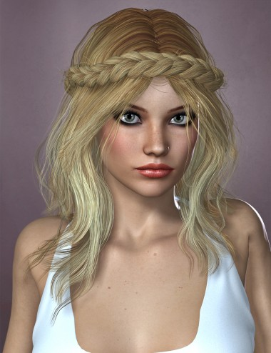 Zea Hair for Genesis 2 Female(s) and Victoria 4