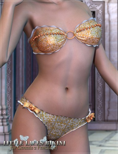 RW Little Laces Bikini for Genesis 2 Female(s)