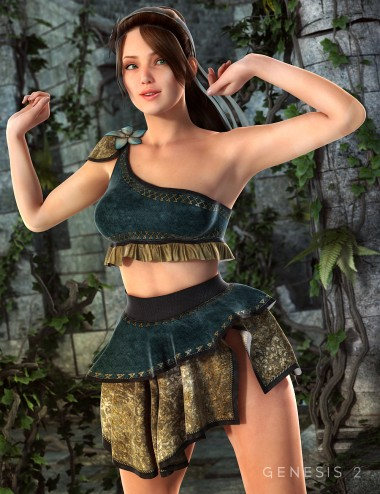 Druidic Princess Outfit for Genesis 2 Female(s)