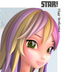 Fairytale Hair Textures for Star hairs DAZ Studio only
