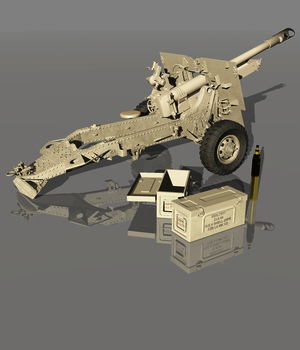 HOWITZER 25 pdr 1943 (for VUE)