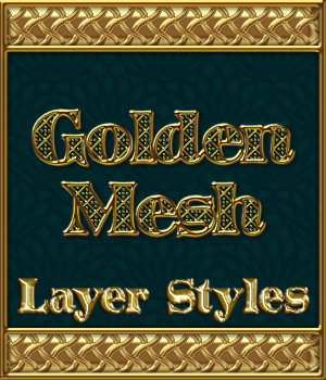Golden Mesh Layer Styles