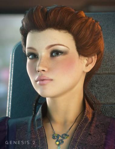 Augusta Hair for Genesis, Genesis 2 Female(s)
