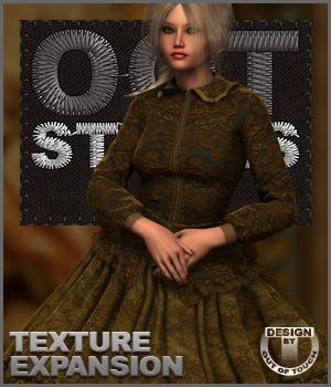 ROYAL STYLES for 1860 Crinoline Dress for Genesis 2 Female(s)