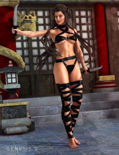 Serpent Assassin Outfit for Genesis 2 Female(s)