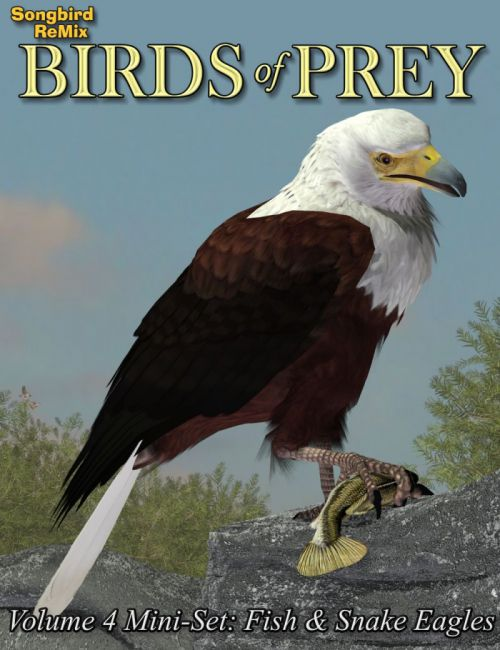 Songbird ReMix Birds of Prey Vol 4 Mini-Set - Fish and Snake Eagles