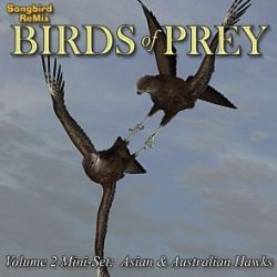 Songbird ReMix Birds of Prey Vol 2 Mini-Set- Asian & Australian Hawks