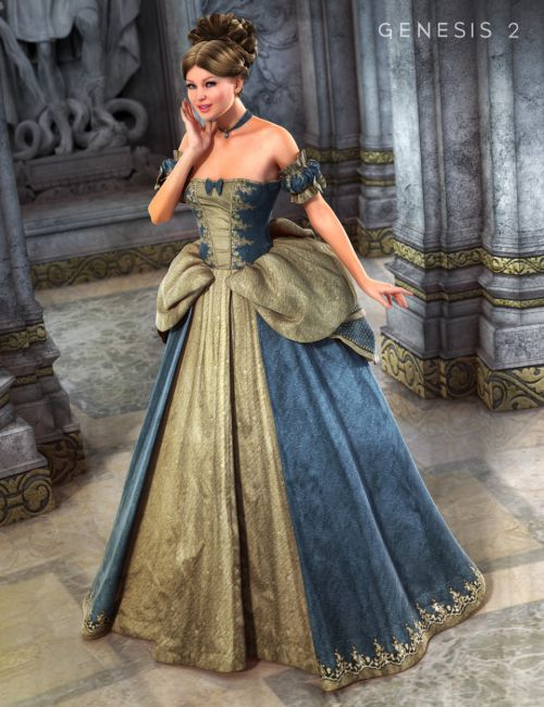 Cinderella Ball Gown for Genesis 2 Female(s)